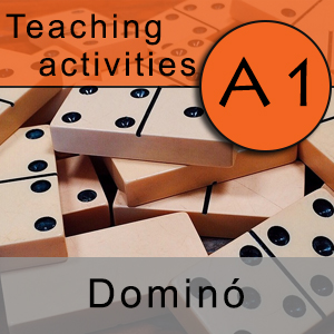 Teaching activities A1: Spanish adjectives dominoes