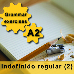 Spanish grammar exercises indefinido regular regular past indefinite in Spanish