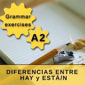 DIFERENCIAS ENTRE HAY y ESTÁ/N