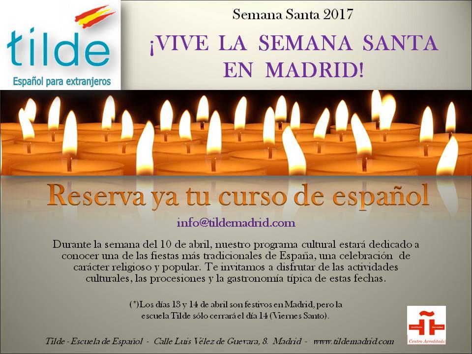 Curso de español para la Semana Santa en Madrid