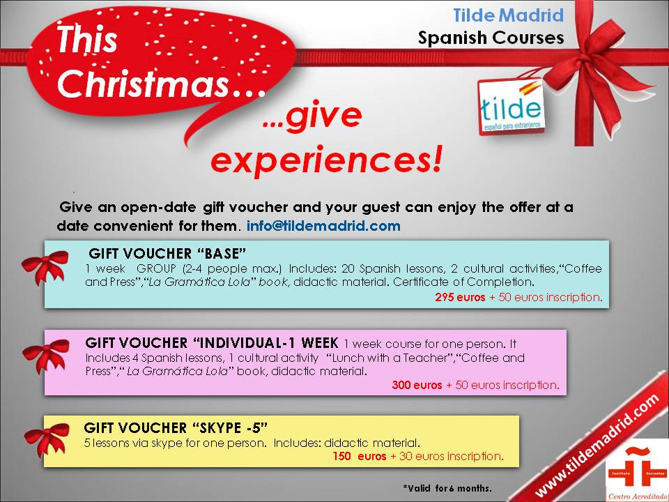 Spanish courses gift
