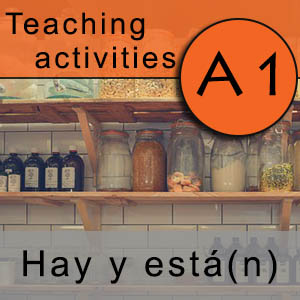 difference between hay and está in Spanish a1 exercises and grammar