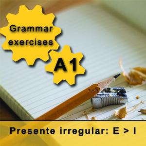 Verbos presente irregular e-i