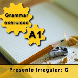 Spanish irregular present tense g Spanish grammar exercise