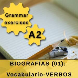 BIOGRAFÍAS (01): Vocabulario-VERBOS
