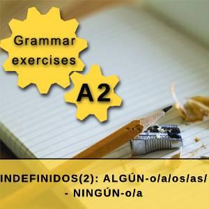 INDEFINIDOS(2): ALGÚN-o/a/os/as/ - NINGÚN-o/a