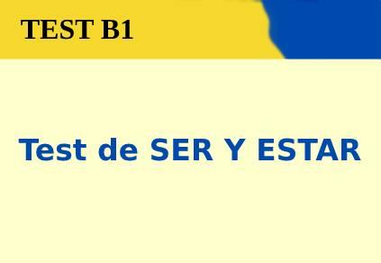 Test de SER Y ESTAR